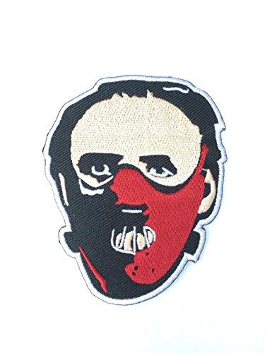 PARCHE BORDADO Dr. Hannibal Lecter Parche de máscara de hierro bordado en Badge Película de