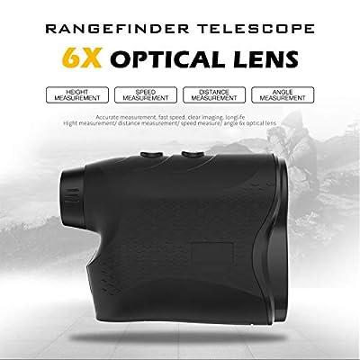 Affyrex Golf Laser Rangefinder, 650 Yard Range with Pulse Vibration, Distance and Speed Measurement, 6X Magnification and Naked Eye Observation (Black) from Affyrex