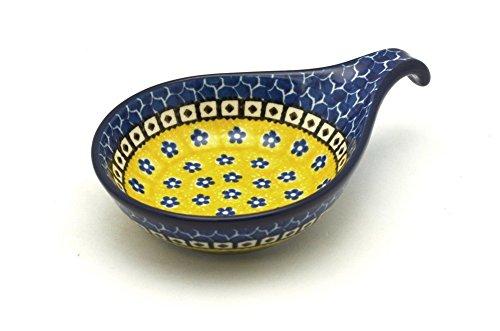 Polish Pottery Spoon/Ladle Rest - Sunburst