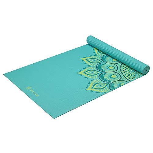 Gaiam Yoga Mat Premium Print Extra Thick Non Slip Exercise & Fitness Mat for All Types of Yoga, Pilates & Floor Workouts, Capri, 6mm