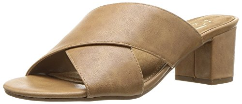 - Aerosoles A2 Women's Midday Slide Sandal, Dark tan, 8.5 M US