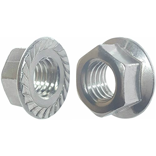 Discount Fifty (50) 10-24 Zinc Plated Serrated Flange Hex Lock Nuts (BCP267)