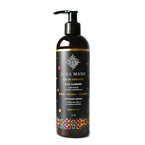 Loba Mane Natural Hair Cleanser - Cleans, Conditions, Nourishes, Repairs - SLS-FREE - Healthy Alternative to Shampoo with Organic Coconut, Buriti & Tucuma - 12 oz