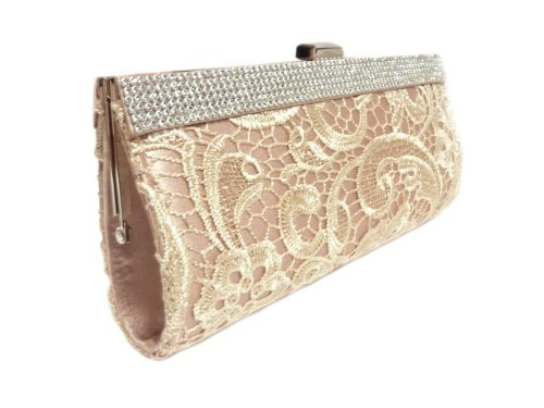 inch Evening Champagne Clutch Edelweiss 10 with Strap Lace Party TCq4vngw