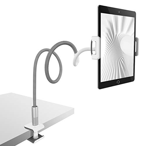 (Gooseneck Tablet Holder, Lamicall Tablet Stand: Flexible Arm Clip Tablet Mount Compatible with iPad Mini Pro Air, Nintendo Switch, Samsung Galaxy Tabs, Fire 8 10 More 4.7-10.5