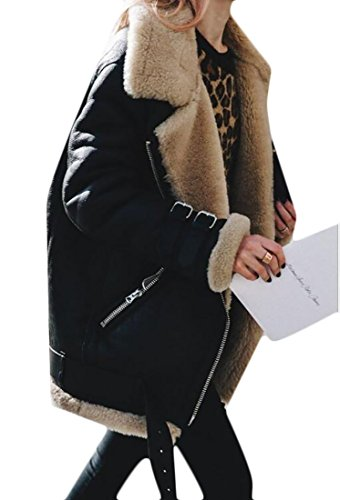 Zip Front Faux Suede Jacket - 4