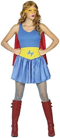 Atosa- Disfraz mujer super héroe comic, Color celeste, XS-S (18074 ...