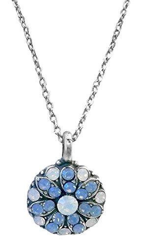 Mariana Guardian Angel White & Air Blue Swarovski Crystal Pendant Necklace - Bar Crystal Ayala
