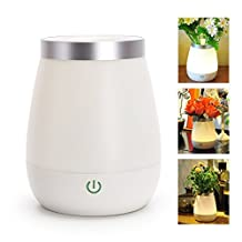 Eplze 2-in-1 Flower Plant Vase Holder Decoration LED Night Light Touch Control Bedside Lamp Dimmable 3 Levels of Light Brightness USB Rechargeable Mood Lamp