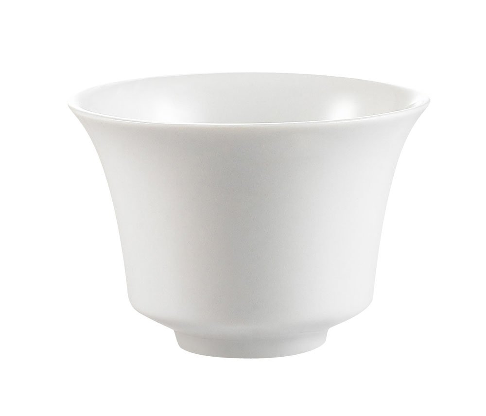 CAC China CTY-C8 Citysquare 3-1/4-Inch 4-Ounce Super White Porcelain Round Cup, Box of 48