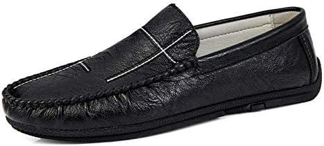 新しいファッション男性ローファー男性本革カジュアルシューズ高品質大人モカシン男性運転靴男性の靴ビーガン柔軟な通気性滑り止めウォーキングラウンドトゥ