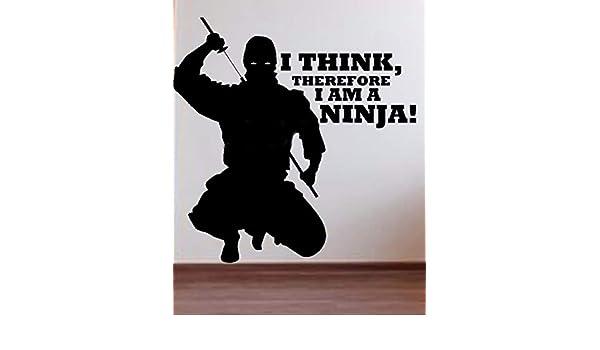 pegatina de pared Creo que, por lo tanto, soy un cartel de ...