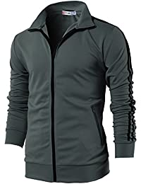 Mens Active Slim Fit Zip-up Long Sleeve Training Basic Designed Jacket