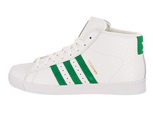 Adidas Pro Model Vulc Adv (bianco Bianco / Verde /) Mens Pattinare Scarpe Verdi