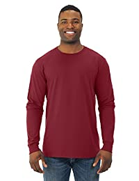 Fruit Of The Loom Mens Sofspun Long Sleeve T-Shirt, JZSFLR, 3XL, Cardinal