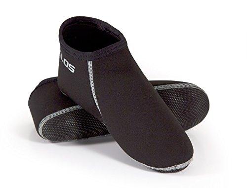 Tilos Neoprene Fin Socks (Gray, XX-Large - (Open Heel Snorkeling Fins)