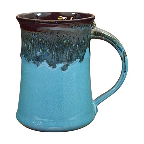 Clay in Motion Handmade Ceramic Large Mug 20oz - Ocean Tide