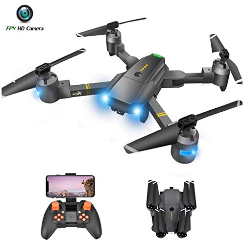 Drone with Camera for Adults – 120° Wide Angle RC Quadcopter for Beginner, WiFi FPV Live Video, Altitude Hold, Headless…