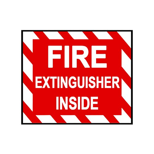 Bargain Max Decals - Fire Extinguisher Interior Sign - Sticker Decal Notebook Car Laptop 5 x 4 (Color)