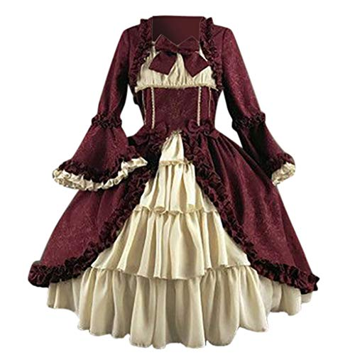 Toimothcn Women Halloween Prom Dress Renaissance Medieval