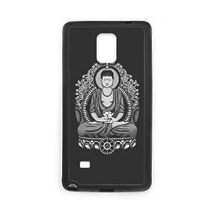Samsung Galaxy Note 4 Cell Phone Case Black Siddhartha Buddha White Halftone ldtm