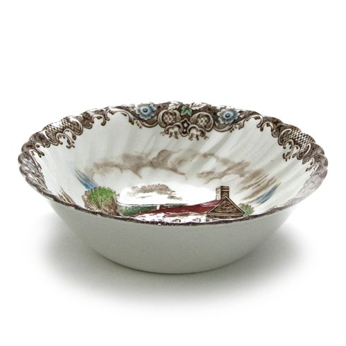 Heritage Hall, Brown & Colors by Johnson Bros, China Coupe Soup -