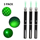 5. Jemine 3pcs Green Lazer Pointer, Tactics Outdoor Travel Flashlight Cats and Dog LED Interactive Funny Toy