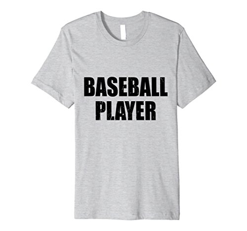 Mens Baseball Player Halloween Costume Party Cute & Funny T shirt XL Heather Grey