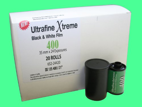 Ultrafine Xtreme Black & White 35mm Film ISO 400 24 exp 20 roll pack (Film Iso 24 Exp 400)