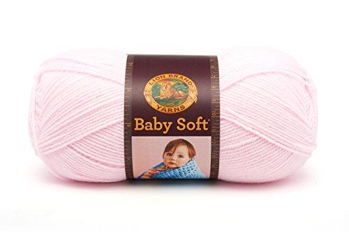 (Lion Brand Yarn 920-101A Babysoft Yarn, Pastel Pink)