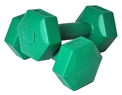 AXER Deportes, cemento mancuernas, Verde, 2 x 1kg: Amazon.es: Deportes y aire libre