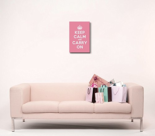 Keep Calm and Carry On Stretched Pink