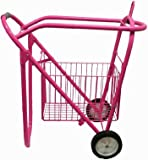 Showman Rolling Saddle Rack Cart with Basket