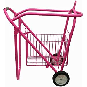 Rolling Saddle Rack Cart with Basket 27