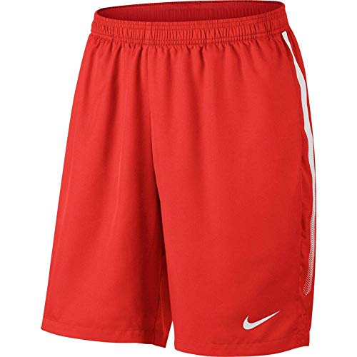 Nike Men's Court Dry 9'' Short (Habanero Red/White, X-Small) by Nike (Image #4)