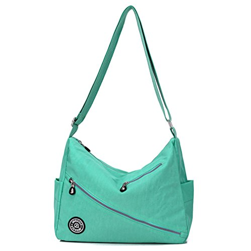 Shoulder Women's Nylon Bag Green Water Pockets Satchel body Purse Multi TianHengYi resistant Cross Yd6qaganx