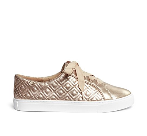 Tory Burch Women's Metallic Marion Quilted Leather Fashion Sneakers (8, Rose ()