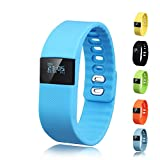 Activity Tracker - Gajozon Fitness Tracker Smart Watch Smart Band Wireless Bluetooth Sleep Monitor Wristband Running Pedometer Exercise for Android 4.3 IOS 7.0 (Blue)