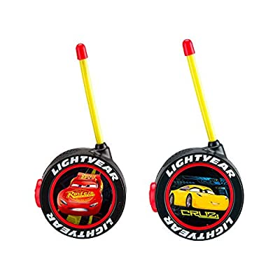 KIDdesigns Cars Walkie Talkies for Kids Static Free Extended Range Kid Friendly Easy to Use 2 Way Walkie Talkies: Toys & Games