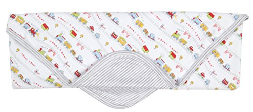 Kissy Kissy Baby-Boys Infant Red Caboose Reversible Receiving Blanket-Multicolored-One Size (Reversible Shortall)