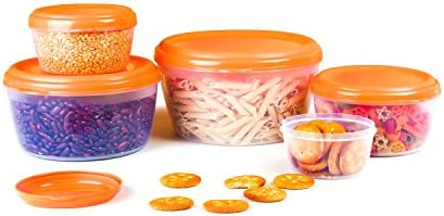 Cello Fabby Container Set, 5-Pieces, Orange