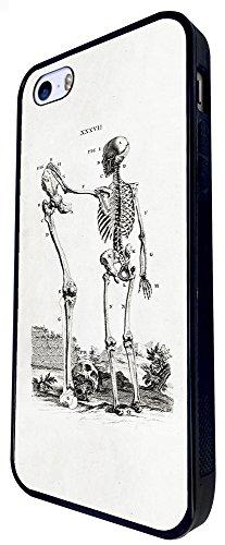 425 - Skeleton Skull Bones Design iphone SE - 2016 Coque Fashion Trend Case Coque Protection Cover plastique et métal - Noir