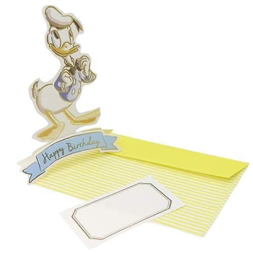A.P.J. Disney stand birthday card / Donald Duck 1000059455