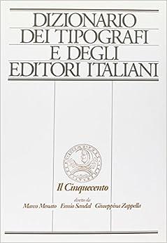 Book Dizionario dei tipografi e degli editori italiani (Grandi opere) (Italian Edition)