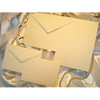 50 set wedding or party invitation kit blank with panel card response cards - Wedding Invitations Kit