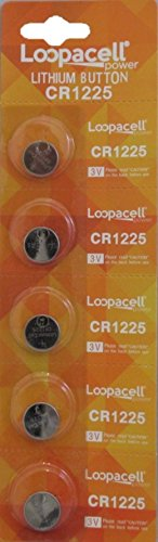 Price comparison product image Loopacell CR1225 3V Micro Lithium Button Coin Cell Battery 5 Pcs