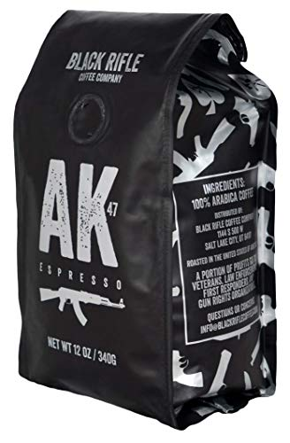 Black Rifle Coffee Company AK-47 Medium Roast Ground Coffee, 12 Ounce Bag