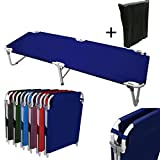 MagshionNavy Blue Camping Folding Military Cot Outdoor +...
