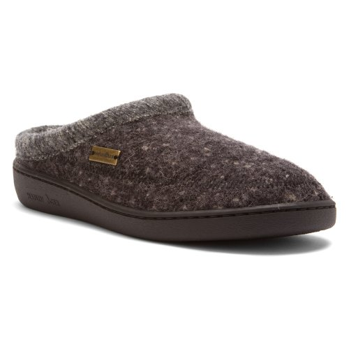 Haflinger Men's ATC Stitch Hardsole Slipper Dark Grey Speckle 44 European by Haflinger