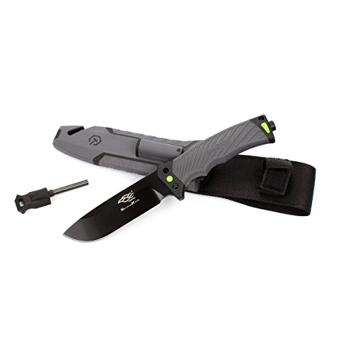 Fixed Blade Tactical Knife Firebird F803 w/ Firestarter & Sharpener (Grey) Review